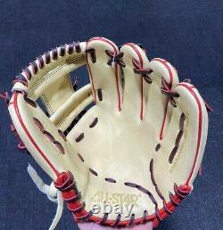 Allstar Pro Elite Series Cream/Black/Red 11.5 Infield Glove