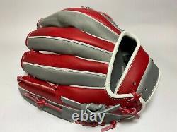 Hi-Gold Pro Order 11.5 Infield Baseball Glove Grey Red RHT H-Web Japan Gift
