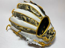 Hi-Gold Pro Order 11.75 Infield Baseball Glove Snake Skin White H-Web RHT Japan