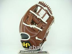 JAPAN HATAKEYAMA Special Pro Order 12 Infield Baseball Glove Brown H-Web RHT SS