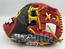Japan SSK Special Pro Order 11.75 Infield Baseball Glove Red Black H-Web RHT