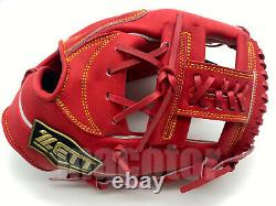 Japan ZETT Special Pro Order 11.5 Infield Baseball Glove Red H-Web RHT GIFT