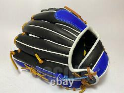 Japan ZETT Special Pro Order 11.75 Infield Baseball Glove Black Blue RHT GENDA