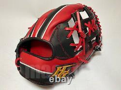New Hi-Gold Pro Order 11.5 Infield Baseball Glove Red Black H-Web RHT Japan