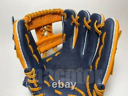 New Hi-Gold Pro Order 11.75 Infield Baseball Glove Tan Navy H-Web RHT Japan
