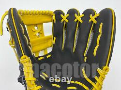 New Hi-Gold Pro Order 12 Infield Baseball Glove Grey Embossing Black Yellow RHT
