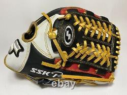 New SSK Special Pro Order 11.75 Infield Baseball Glove Black Red White RHT Gift