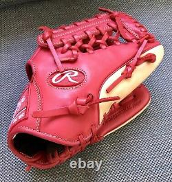 Rawlings 11.5 GG Elite Series Pro Baseball Glove Red/Red/Tan Right Hand Thrower