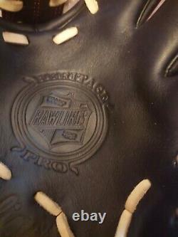 Rawlings HP204-4BC 11.5 Heritage Pro Series Baseball Glove Infield Black/Red
