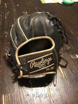 Rawlings Heart Of The Hide 11.5 Black Gold Infield Glove PRO204-2BGD