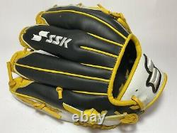 SSK Special Pro Order 11.75 Infield Baseball Glove Black Yellow White RHT Cross