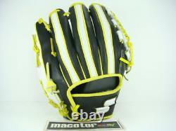 SSK Special Top Pro Order 11.75 Infield Baseball Glove Black Yellow RHT Deer