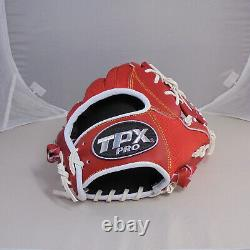 TPX Pro 12 Leather Red Infield I Web Right-Handed Thrower Baseball Glove