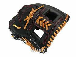 ZETT Pro Elite 11.75 inch Black Baseball Softball Infielder Glove