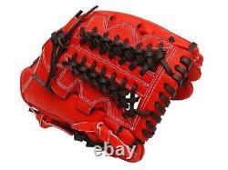 ZETT Pro Elite 12 inch Japan Red Baseball Softball Infielder Glove