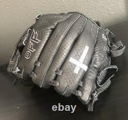 Black Infield Baseball Glove Taille 11.5 Showoff Baseball Professional Best Glove