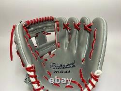 Hi-gold Pro Commander 11.5 Infield Gants De Baseball Gris Rouge Rht H-web Japon Cadeau
