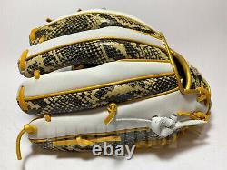 Hi-gold Pro Order 11.75 Infield Gants De Baseball Snake Skin Blanc H-web Rht Japon