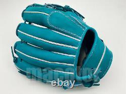 Japon Zett Special Pro Order 11.5 Infield Baseball Gants Bleu Nil H-web Rht