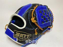 Japon Zett Special Pro Order 11.75 Infield Gants De Baseball Bleu Noir Rht Genda