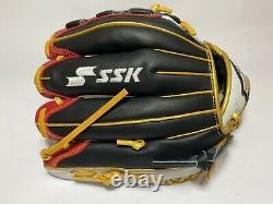 Nouveau Ssk Special Pro Order 11.75 Infield Gants De Baseball Noir Rouge Blanc Rht Cadeau