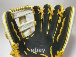 Ssk Special Pro Order 11.75 Infield Gants De Baseball Noir Jaune Blanc Rht Cross