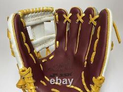 Ssk Special Pro Order 11.75 Infield Gants De Baseball Violet Gris Blanc Rht H-web