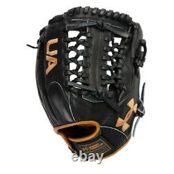 Ua Genuine Pro 2.0 Fielding Glove (11.75 Pouces) Uafggp2-1175mt-black/carmel Rht