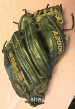 Wilson A2000 1788-bg 11.25 Gant De Baseball Noir Et Gris Pro Stock Cuir